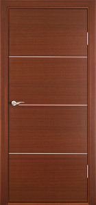 contemporary interior door Milano-1M1 Mahogany