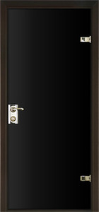 door Milano-400 Black Glass