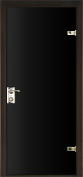 modern interior door Milano-400 Black Glass