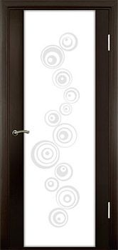 contemporary interior door Milano-300P3 Wenge