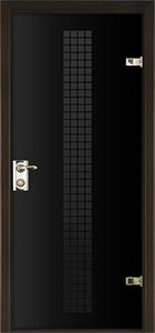 door Milano-400W Black Glass
