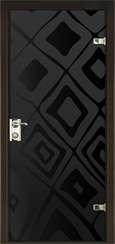 contemporary interior door Milano-400P7 Black Glass