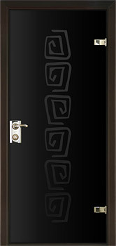 modern interior door Milano-400P6 Black Glass