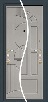 contemporary exterior door Milano-18 Grey