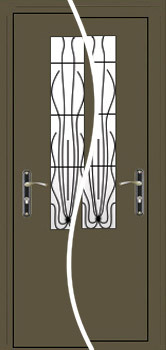contemporary exterior door Milano-18 Econom