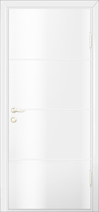 modern interior door Milano-1M1 White Laminate