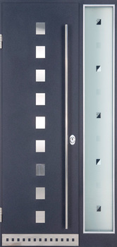 contemporary exterior door Milano-10 Sidelight