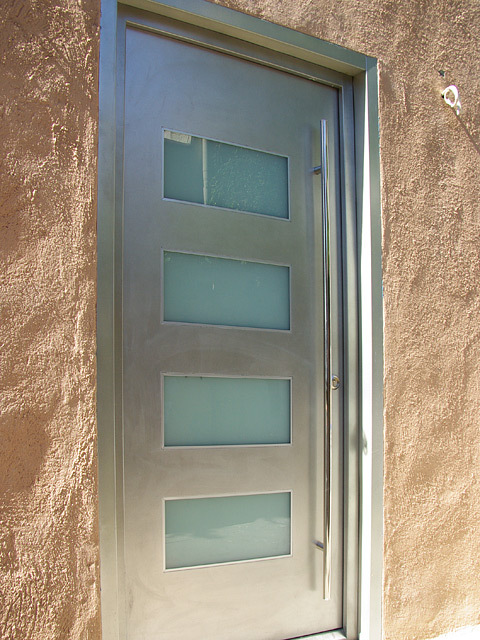 Exterior Door Milano-14 Stainless Steel. Photo & Gallery of modern exterior doors by Milano Doors. Milano-14 ...