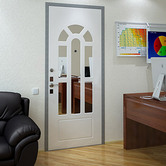 Exterior Door Milano-18 White/Inside. Photo
