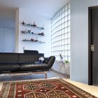 Interior Door Milano-400 Black Glass
