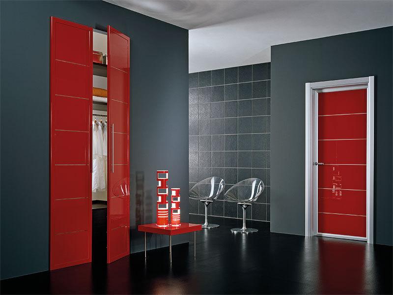 Merveilleux Interior Door Milano 1M1 Red Laminate. Photo