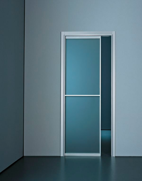 Buy modern custom pocket doors online at best price for Modern glass pocket doors