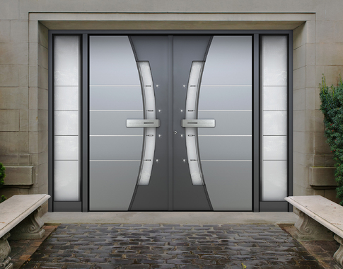 Buy modern front doors custom doors contemporary doors for Modern exterior house entrance