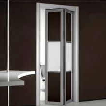 door BFD-07 Wenge/White Obscure Glass Single Bi-Fold Door