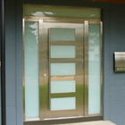 Exterior Door Milano-14 Stainless Steel. Photo
