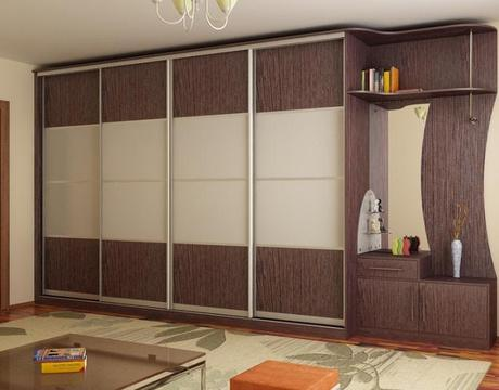 Modern contemporary custom closet doors mirror sliding for Wardrobe interior designs catalogue