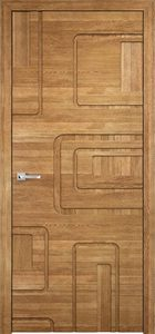 modern interior door Milano-Round 51 Natural Oak