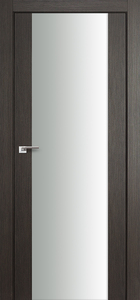 contemporary interior door Expo-0C Wenge, White Glass