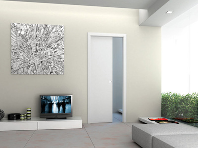 Eclisse 36 In X 84 In Steel Single Pocket Door Frame