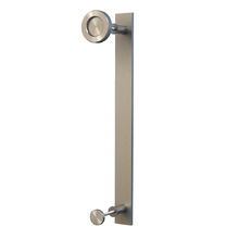 Barn Door Handle with Knob Brushed Oil-Rubbed Bronze